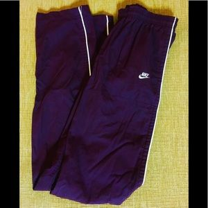 Women's Nike Purple Striped Athletic Track Pants
